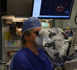 Dr. Linger performing Periodontal Microsurgery